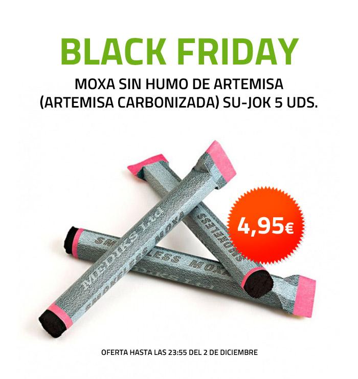 Moxa Sin Humo de Artemisa (artemisa carbonizada) SU-JOK 5 uds. Oferta Black Friday