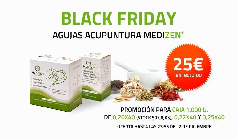 Agujas acupuntura MEDIZEN (caja de 1000 uds) Oferta Black Friday